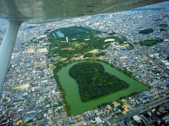 《仁徳天皇陵を上から見たい!》大仙古墳の全景が見える場所一覧【世界遺産】